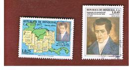 HONDURAS   - SG 918.919 - 1978   BICENTENARY J.C. DEL VALLE  - USED - Honduras