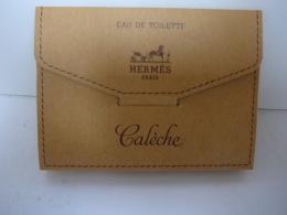"""HERMES """" CALECHE"""" MINI  TUBE  2,5 ML EDT  AVEC DEPLIANT  LIRE ET VOIR !! - Miniatures Modernes (à Partir De 1961)"""