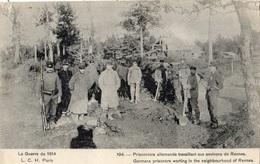 1914 PRISONNIERS ALLEMANDS TRAVAILLANT AUX ENVRIONS DE RENNES - France