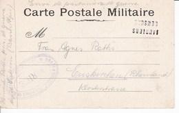 Carte De Franchise Correspondance Prisonnier Allemand Avec  Censures De  Jausier Et Sisteron Pour Euskirchen - Cartes De Franchise Militaire