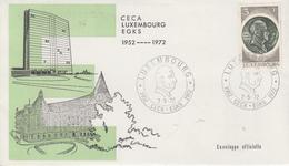 Enveloppe  FDC  1er  Jour   LUXEMBOURG    Robert  SCHUMAN   1972 - Idées Européennes