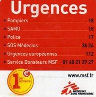 Magnets Magnet Medecins Sans Frontieres Telephone Urgence - Advertising