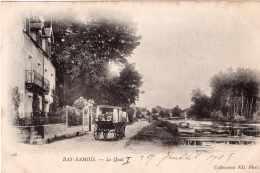 BAS SAMOIS LE QUAI ROOSEVELT ET LA SEINE PRECURSEUR 1905 TBE - Samois