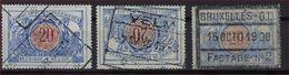 TR 30 / SP 30 3 X Met Stempels BASTOGNE NORD , VELM En BRUXELLES - O.L. FACTAGE NR. 2 ; Staat Zie Scan ! - 1895-1913