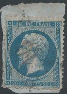 Lot N°41614  Variété/n°22, Oblit étoile Chiffrée 16 De PARIS (R. De Palestro), P De EMPIRE Absent - 1862 Napoleon III