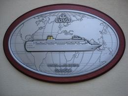 PAQUEBOT COSTA NEOCLASSICA Grande Plaquette Souvenir Encadrée - Bateaux