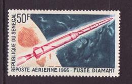 """ESPACE - 1966/02 - Sénégal - 1er Jour Des Timbres """"exploration Spatiale Française"""" - Poste - 4 Documents - FDC & Commemoratives"""
