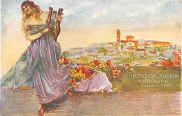 "0362 ""CARTOLINA RICORDO ACQUAVIVA - LUGLIO 1908"" CART SPED 1913 COMMEMORATIVA - Cartes Postales"