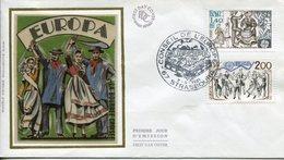 EUROPA CEPT FRANCE 1981 FDC N° YVERT 2138/2139 - Europa-CEPT