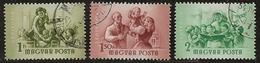 Hongrie 1954 N°Y.T. :  PA. 170 à 172 Obl. - Luftpost