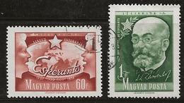 Hongrie 1957 N°Y.T. :  PA. 192 Et 193 Obl. - Luftpost