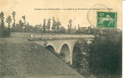 Ansac-Le Viaduc Du Pontareau Au Passage D'un Train - Autres Communes