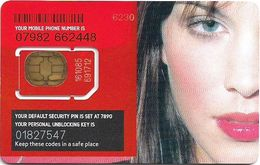 UK - Virgin - Woman's Face - GSM SIM2 Mini, Mint - Royaume-Uni