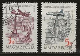 Hongrie 1958 N°Y.T. :  PA. 211 Et 212 Obl. - Luftpost