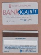 AC - TURKEY ZIRAATBANK BANKKART BANK CARD - CREDIT CARD - Krediet Kaarten (vervaldatum Min. 10 Jaar)