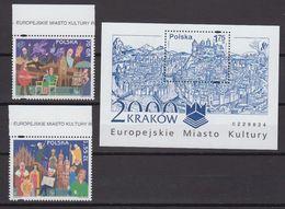Poland 2000 Krakow European City Of Culture 2v +  M/s  ** Mnh (40589L) - Ideas Europeas