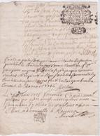 GENERALITE De BRETAGNE  8 DEN. - RENNES  20 MARS1716 - 1/2 Feuille - Seals Of Generality