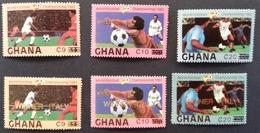 "Ghana 1982  World Cup Espana ""82  Surcharged 1984 POSTAGE FEE TO BE ADDED ON ALL ITEMS - Ghana (1957-...)"