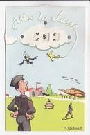 CPSM ILLUSTRATION  MILITARIA SYSTEME Décompte Des Jours - Cartoline Con Meccanismi