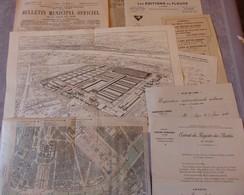 LYON 1914 - EXPOSITION INTERNATIONALE URBAINE - Plans, Correspondances, Publicités D'éditeurs, Articles De Journaux - Historical Documents