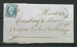 Lettre Du 22 Mars 1864 De POLIGNY (38)- Y&T N°22- GC 2918 - Storia Postale