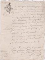 GENERALITE De BRETAGNE  DIX DEN.  1729 - Seals Of Generality