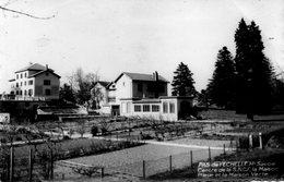 CPSM -  PAS  De L' ECHELLE  (74)  Centre De La S.N.C.F -  La Maison Bleue Et La Maison Verte - Autres Communes