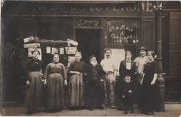 CPA PHOTO 75 PARIS XI 7 Rue Mercoeur Commerce Devanture Café CAVES D'AUVERGNE Bougnat Maison J. ANGREMY Rare - Arrondissement: 11