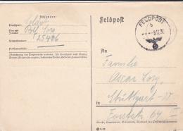 German Feldpost WW2: Plain Postcard From 4. Kompanie Infanterie-Regiment 14 FP 25406 P/m 9.11.1939 - Address Change (G92 - Militaria