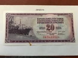 Yugoslavia Jugoslavia 20 Dinara Uncirculated Banknote 1978 - Yugoslavia
