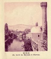Chromo, Image, Vignette : Syrie, Au Bord Du Barada à Damas (6 Cm Sur 7 Cm) - Vieux Papiers