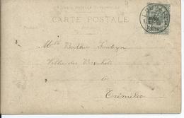 Fantasiekaart Met OCB 53 - Afstempeling LOUVAIN 1 - COBA 4 - 1893-1907 Armoiries