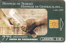 MEXICO - Día Del Voceador 2000, Chip GEM1.1, 05/00, Used - Mexico