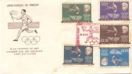PIERRE DE COUBERTIN RENOVADOR DE LOS JUEGOS OLIMPICOS FDC PARAGUAY AÑO 1963 - Jeux Olympiques