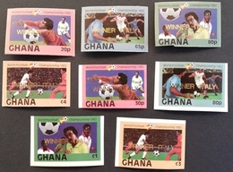 "Ghana 1982  World Cup Espana ""82  Winner Imperf. - Ghana (1957-...)"