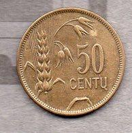 Lituanie - 50 Centu 1925 - Lithuania