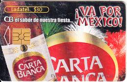 MEXICO - Carta Blanca Beer/Va Por Mexico, Chip GEM2.1, 08/02, Used - Mexico