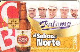 MEXICO - Carta Blanca Beer, El Sabor Del Norte/Palomo, Chip GEM2.1, 08/02, Used - Mexico