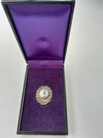 Médaille Japonaise Argent - Chemin De Fer Japonais +  Boite - Medals