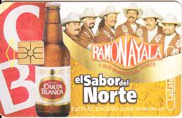 MEXICO - Carta Blanca Beer, El Sabor Del Norte/Ramon Ayala, Chip GEM1.3, 08/02, Used - Mexico