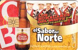 MEXICO - Carta Blanca Beer, El Sabor Del Norte/Los Huracanes Del Norte, Calendar 2003, Chip GEM1.3, 08/02, Used - Mexico