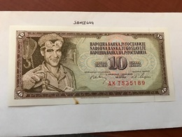 Yugoslavia Jugoslavia 10 Dinara Uncirculated Banknote 1968 - Yugoslavia