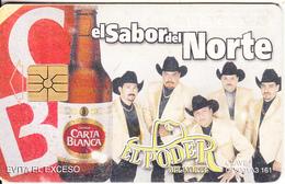 MEXICO - Carta Blanca Beer, El Sabor Del Norte/El Poder Del Norte, Chip GEM1.3, 08/02, Used - Mexico