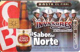 MEXICO - Carta Blanca Beer, El Sabor Del Norte/Los Invasores, Chip GEM2.2, 08/02, Used - Mexico