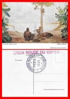 """CPSM/gf Exposition Coloniale à Paris 1931. Tableau De Allard L'Olivier """"la Nuit Vient, Kivu"""". Croix Rouge Du Congo..H439 - Red Cross"""