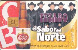 MEXICO - Carta Blanca Beer, El Sabor Del Norte/Pesado, Chip GEM2.2, 08/02, Used - Mexico