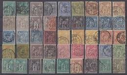 Frankreich Lot 45 Marken Sage Gestempelt Ansehen !!!!!!!!!!! - 1876-1898 Sage (Type II)