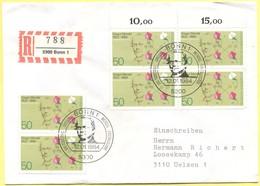 GERMANIA - GERMANY - Deutschland - ALLEMAGNE - 1984 - 100. Todestag Gregor Mendel - FDC - Bonn - Einschreiben - Register - [7] Repubblica Federale