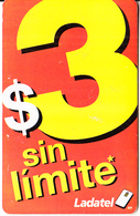 MEXICO - $3 Sin Limite, Chip IN4, 06/08, Used - Mexico
