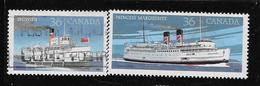 CANADA 1989,  USED # 1139-40  CANADIAN STEAMSHIPS  USED - 1952-.... Règne D'Elizabeth II